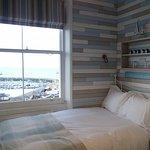 Beautiful bedroom overlooking the harbour