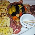 Salami, giardiniera and bread