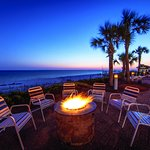 Cozy up to our firepit and enjoy the gulf breeze