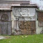 Memorial stone sin the churchyard