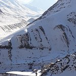 """Winter in Mudh village and also pic of Mountain goat """" Ibex""""."""