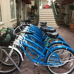 Bicycle rental in courtyard