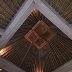 High, traditional ceilings in the villa