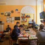 Common room social area@ Manena Hostel Genova