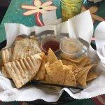Daily Soup and Cheeseburger Quesadilla