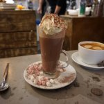 The Very Naughty hot chocolate and latte