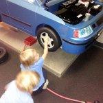 the head mechanic inspecting the work