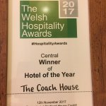 Winner hotel of the year Welsh hospitality awards