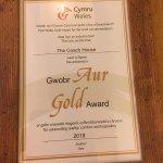 Visit Wales Gold award 2018