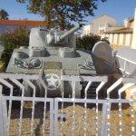 char Jeanne D'arc de guerre au pied