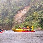 Jet boat delivering food for canoe group!