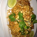 fried Thai noodles, red curry, 5 spice beef & asianslaw