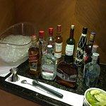 Club Lounge open bar.