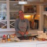 Proprietor & Breakfast chef--the wonderful Ariane!