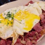 Hash, with not too salty homemade corned beef. #UpCloseSavor