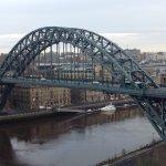 Tyne Bridge from balcony of executive room