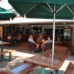 The new bar directly services the outdoor area