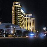 Biloxi Beach - Beau Rivage Casino on Biloxi Beach in Fog