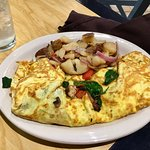 Veggie omelette with spinach