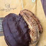 Chocolate dipped palmier