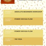 Our Yoga Weekly Schedule:  Term 1 2018