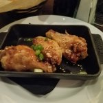 Tasty hoisin glazed chicken wings but again too light on portion size!