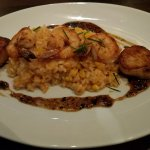 Shrimp & Scallop with risotto (extra $7 added) Yum!
