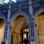Entering the Church for Saturday's 5.15 pm Vigil Mass