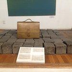original bricks from Budapest Ghetto & suitcase of victim