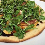 Fig, Tempeh Bacon, Arugula Pizza special