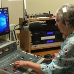Volunteer DJ in Radio Control Booth