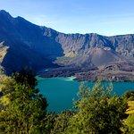 Rinjani summit and lake.