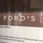 Foto de FORD'S Restaurant & Bar
