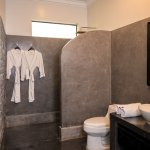 Spacious bathrooms with seperate shower and tub
