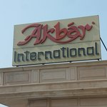 Akbar International sign