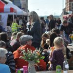 Community gathering at the 10th anniversary of the market