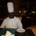 Chef Ganesh with his signature cuisine