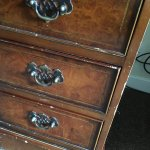 chipped dated furniture
