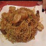 Singapore noodle dish
