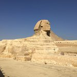 Our view of the Sphinx, no crowds!