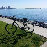 Bicycling on Harbor Island (San Diego)