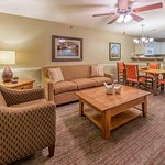 In room living & dining areas