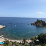 view from pool overlooking Isola Bella