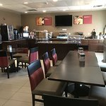 Updated Breakfast Buffet Dining Area
