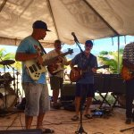 Beach stage live music