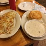 Biscuits, gravy and hash browns