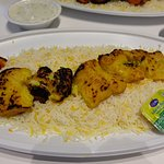 Grilled Fish Dish with Rice