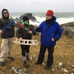 Star Wars, The Last Jedi Movie Tour at Malin Head, Ireland - home of the Millennium Falcon on th