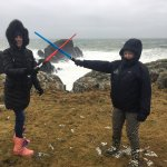 Star Wars, The Last Jedi Movie Tour at Malin Head, Ireland - home of the Millennium Falcon on th