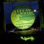 Lucas Wharf sign